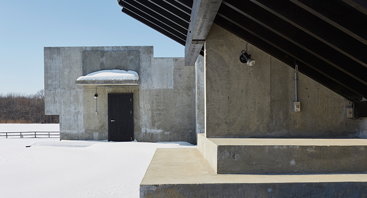Aho 39 s award winning inverted house has opened in japan for Inverted house plans